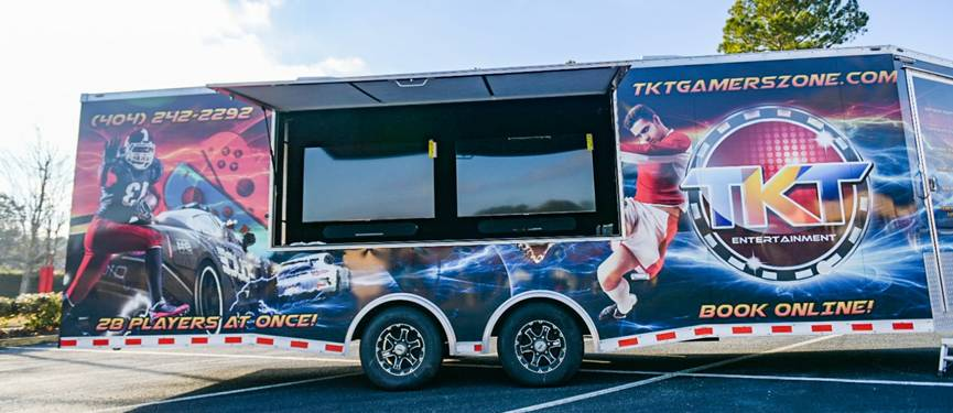 Video game truck in metro Atlanta