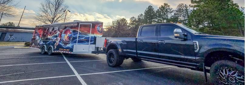 Metro Atlanta video game truck and trailer